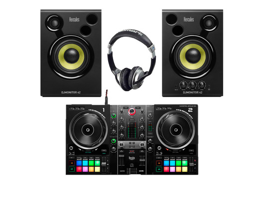 Hercules DJ Inpulse 500 + Monitor 42 w/ Headphones