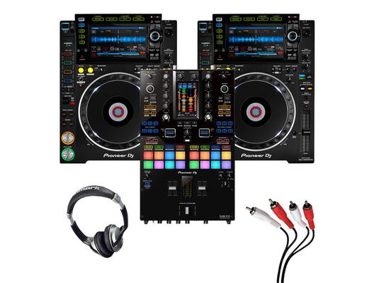 Pioneer CDJ-2000 NXS2 (Pair) + DJM-S11 w/ Headphones + Cable