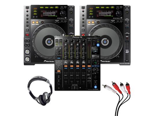 Pioneer CDJ-850 (Pair) + DJM-900 NXS2 w/ Headphones + Cable