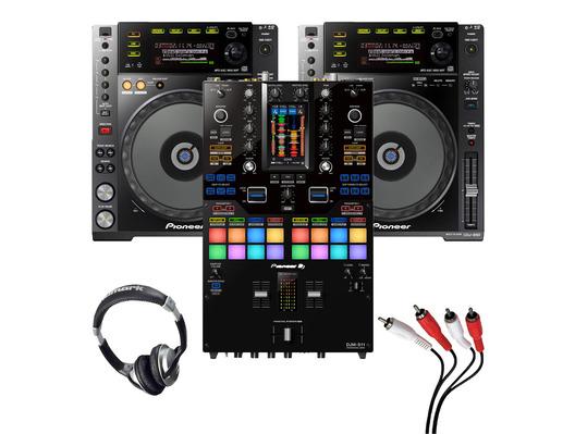 Pioneer CDJ-850 (Pair) + DJM-S11 SE w/ Headphones + Cable