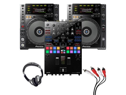 Pioneer CDJ-850 (Pair) + DJM-S9 w/ Headphones + Cable
