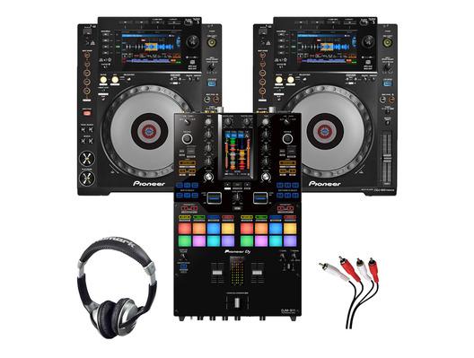Pioneer CDJ-900NXS (x2) + DJM-S11 w/ Headphones + Cable
