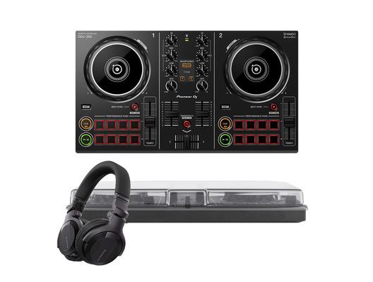 Pioneer DDJ-200 w/ Headphones + Decksaver