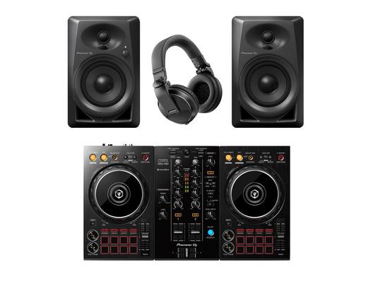 Pioneer DDJ-400 with DM-40 Monitors and HDJ-X5 Headphones