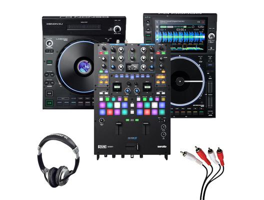 Denon LC6000 + SC6000M + Rane Seventy w/ Headphones + Cable