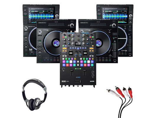 Denon LC6000 (x2) + SC6000M (x2) + Rane Seventy with Headphones + Cable