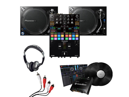 Pioneer PLX-1000 (Pair), DJM-S7 + DVS Kit w/ Headphones & Cable