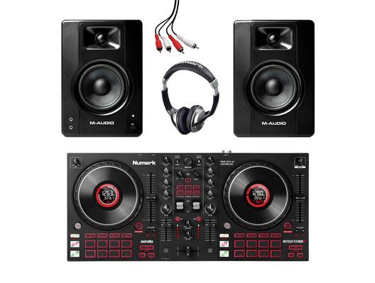 Numark Mixtrack Platinum FX + M-Audio BX4 (Pair) w/ Headphones + Cable