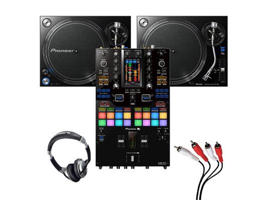 Pioneer PLX-1000 (Pair) + DJM-S11 w/ Headphones + Cable