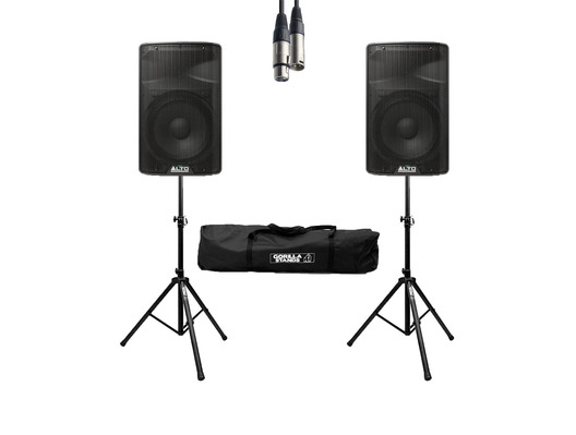 Alto TX312 (Pair) w/ Stands, Cable & Carry Bag