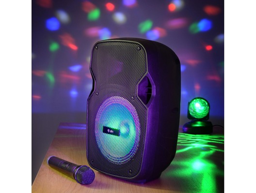 QTX PAL8 Portable PA with Bluetooth & LED FX