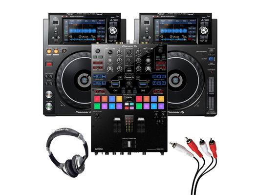 Pioneer XDJ-1000 MK2 (Pair) + DJM-S9 w/ Headphones + Cable
