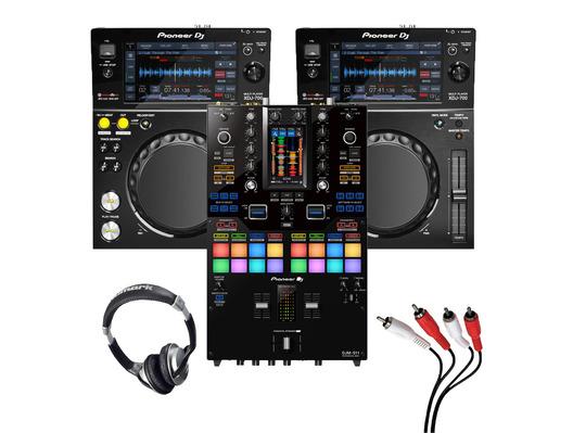 Pioneer XDJ-700 (Pair) + DJM-S11 w/ Headphones + Cable